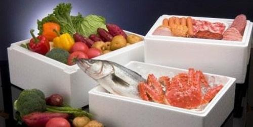 bảo quản thực phẩm bằng thùng xốp