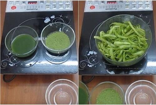 cách làm mứt dừa trà xanh