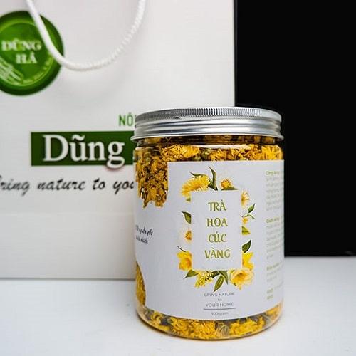 trà hoa cung giúp giảm đầy bụng khó tiêu tại nhà