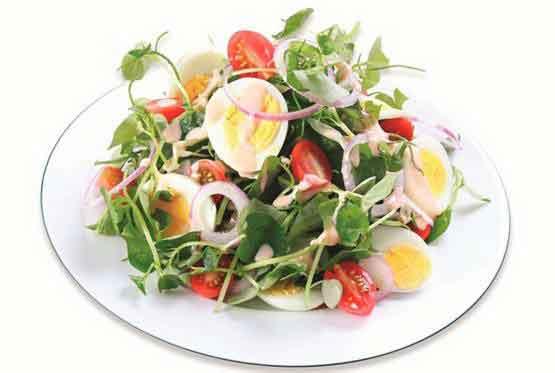 gỏi rau càng cua trộn trứng