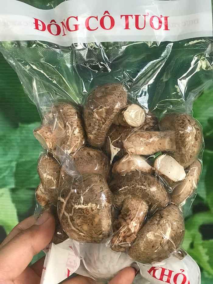 Hình ảnh bao bì sản phẩm nấm hương tươi đóng gói 175gr