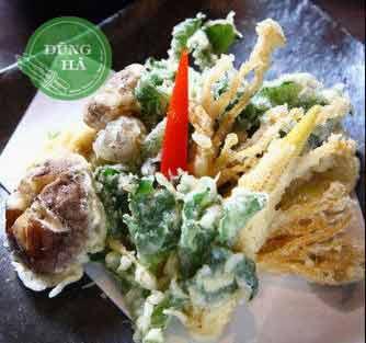 Món ăn rau bông tuyết chiên