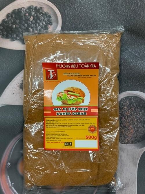 Gia vị ướp thịt doner kebab
